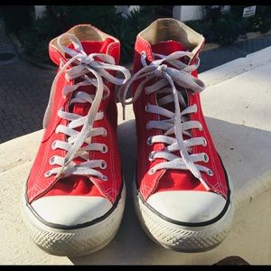 Red, Hightop Converse